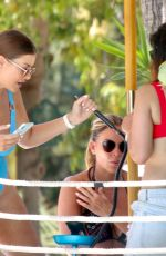 Imogen Thomas Parties in Marbella at the exclusive NAO Pool Club