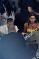 Izabel Goulart and her boyfriend Kevin Trapp enjoy an evening out on the beautiful island of Mykonos