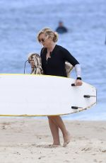 Jane Krakowski On the beach in the Hamptons
