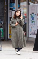 Jenna Coleman Spotted out and about talking on her phone in London