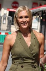 Jenni Faulkner Stuns in khaki playsuit exits Smooth radio in London