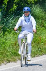 Jennifer Lopez Goes for a bike ride in the Hamptons