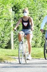 Jennifer Lopez Out for a bike ride in the Hamptons