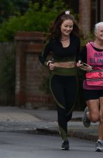 Jess Impiazzi Out jogging in Surrey
