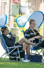 Joe Jonas & Sophie Turner Relax under a shady tree for a bite with friends at a park in Los Angeles