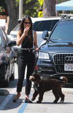 Jordana Brewster Out with her dog in Santa Monica