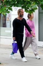 Jude Law & Iris Law Out shopping on the Hampstead High Street in London