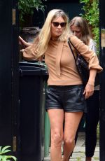 Kate Moss Looks stunning in mini leather shorts as she showcases her incredibly toned legs while pictured out in North London
