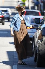 Katherine Schwarzenegger Out for a refreshing drink