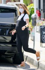 Katherine Schwarzenegger Shows off her very large baby bump while out grabbing coffee in Brentwood