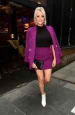 Katie McGlynn Looking very colourfull as she heads out celebrating her birthday at BLVD in Manchester