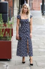 Katie Piper Seen Out And About Wearing A Summer Dress During Filming In London