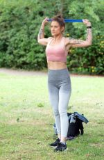 Katie Waissel Working out in North London