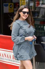 Kelly Brook Arriving at the Global studios for her Heart radio show
