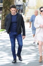 Kelly Brook Out for lunch with Jeremy Parisi and her sister in London