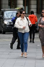 Kelly Brook Seen at Global Radio with Jason aka JK and Lucy Horobin in London