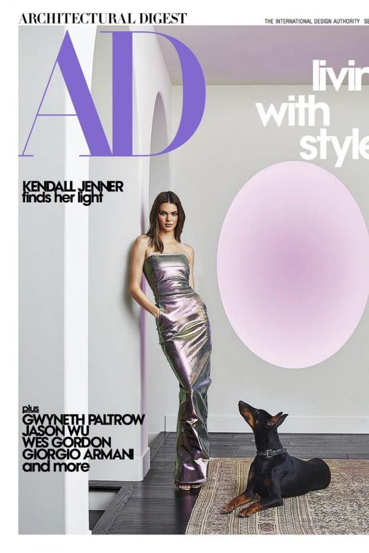 Kendall Jenner - Architectural Digest Magazine, September 2020