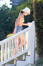Kendall Jenner Enjoys a beach day with friends in Malibu