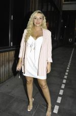 Kimberly Hart Simpson puts on very busty display as she enjoys girls nightout in Manchester