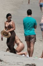 Kourtney Kardashian Wearing a bikini on the beach in Malibu