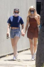 Kristen Stewart Out for lunch with girlfriend Dylan Meyer at Kitsune in LA