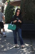 Kyle Richards Leaving lunch at II Pastaio in Beverly Hills
