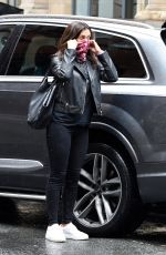 Kym Marsh and her boyfriend Scott seen wearing face masks as they head to House Of Evelyn Hair and Beauty in Manchester