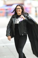 Kym Marsh Looks chic in casuals arriving at the BBC studios - London