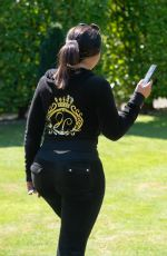 Lauren Goodger Shows off her pert bum as she leaves her house in Essex