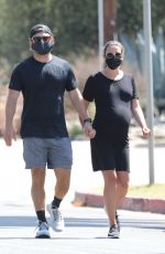Lea Michele Going for a morning walk in Santa Monica
