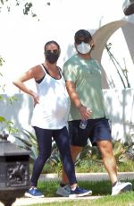 Lea Michele Shows off her growing baby bump in Los Angeles