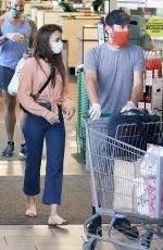 Lily Collins Shopping at Whole Foods Market in West Hollywood