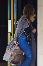 Lily James Keeps a low profile as she
