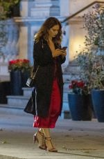 Lily James On a Night out at Mark