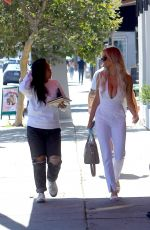 Lindsey Pelas Turns heads after having lunch with a friend at Sugar Taco restaurant in West Hollywood
