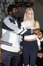 Lindsey Vonn And P.K. Subban enjoy a nice date night before the 4th of July in West Hollywood at Catch Restaurant