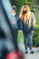 Lisa Marie Presley Pictured leaving a hotel with her son Ben