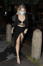 Lottie Moss Outside the Treehouse Hotel in London