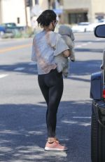 Lucy Hale Getting coffee with a friend in Studio City