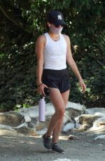 Lucy Hale Hiking in shorts in LA