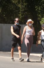 Lucy Hale Out with friends for an early morning hike in Los Angeles