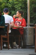 """Madison Beer Has lunch at Matsuhisa after filming her new single """"BABY"""" in Beverly Hills"""