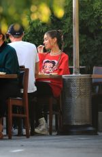 Madison Beer Has lunch at Matsuhisa in Beverly Hills