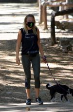 Malin Akerman Out on a hike in Los Feliz