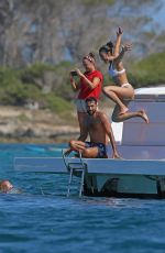 Maria Pedraza On a yacht in Formentera
