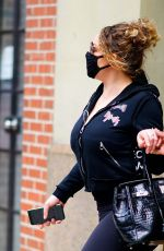 Mariah Carey Steps out after the holiday weekend in New York City