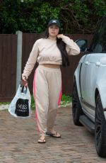 Marnie Simpson Seen arriving home at her house in Bedfordshire