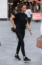 Maura Higgins Takes a stylish stroll through Leicester Square - London