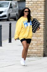 Maya Jama Arriving at a Studio in London