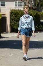 Melanie Griffith Seen taking a stroll in the morning wearing daisy dukes in Los Angeles